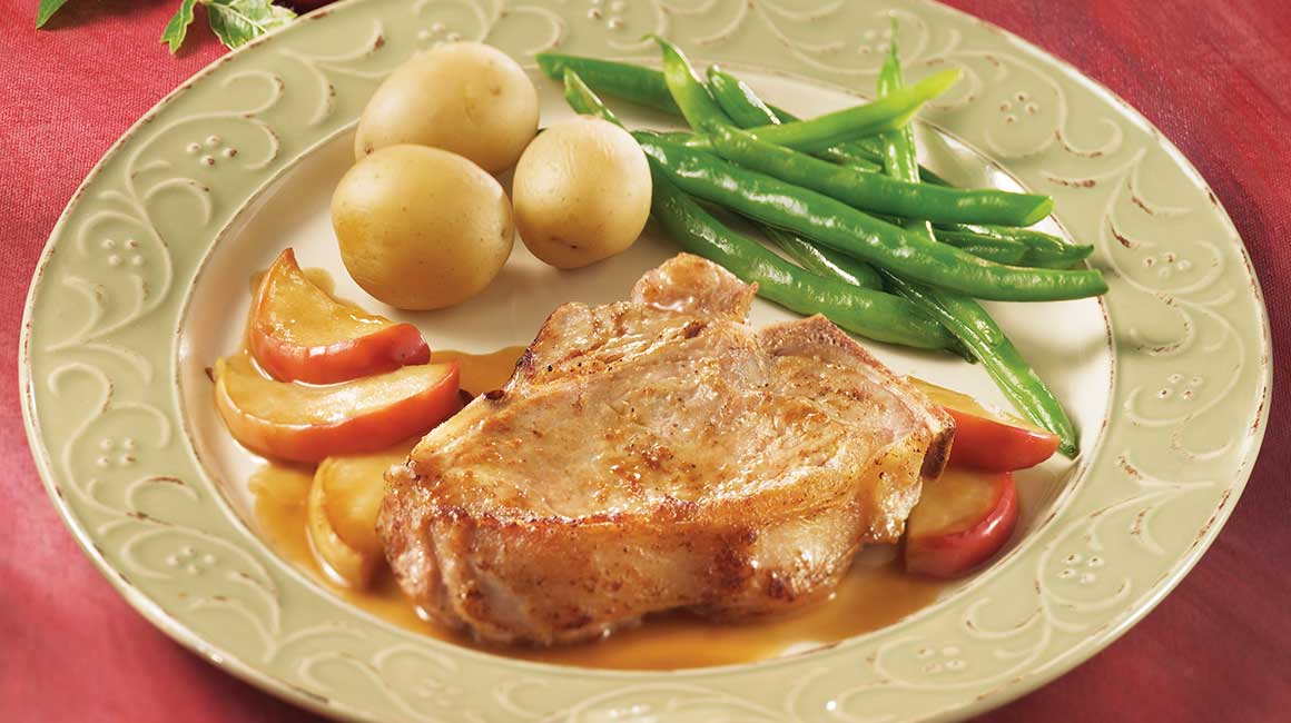 Veal Cutlets with Apples and Marsala Sauce