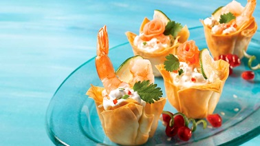 Shrimp and cream cups