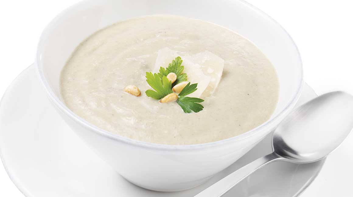 Cream of oyster mushroom soup