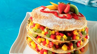 Multigrain fruit pancakes