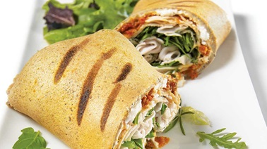 Turkey buckwheat crêpe paninis