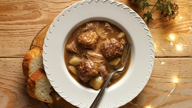Delicious meatball stew from Christian Bégin