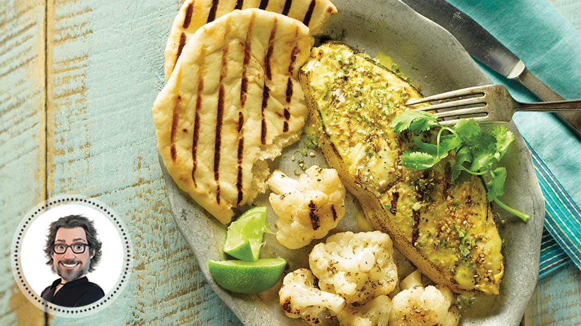 Halibut steaks with lime from Christian Bégin