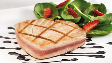 Tuna Steak with caramelized balsamic vinegar, Tuna