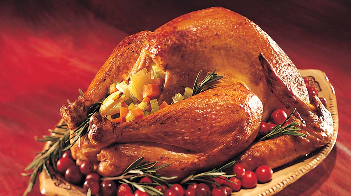 Holiday Turkey Stuffed with Sausage and Compliments Sunflower Seed Bread