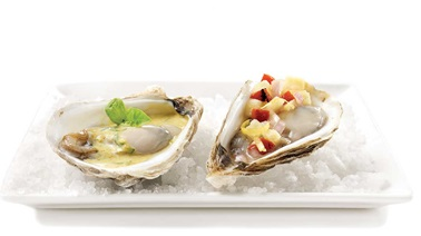 Asian-style duo oysters