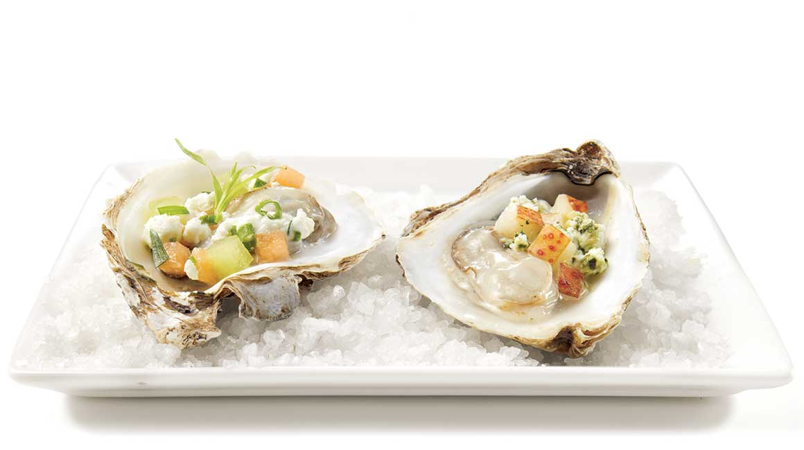 Goat cheese duo oysters