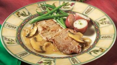 Veal Cutlets Al Limone with Portobello Mushrooms