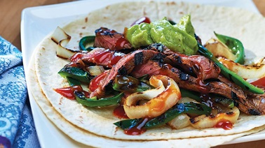 Spicy steak fajita