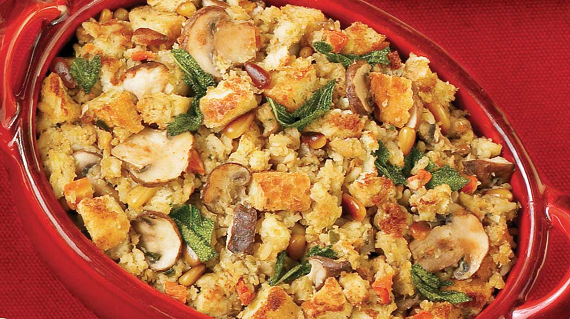 Forest Mushroom and Pine Nut Stuffing
