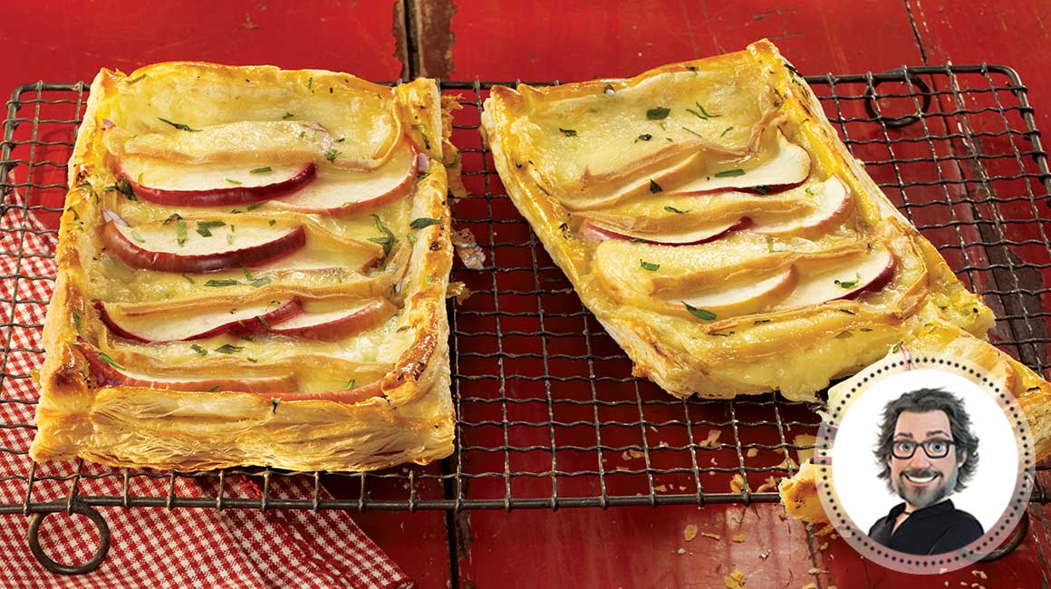 Apple and Oka puff pastry
