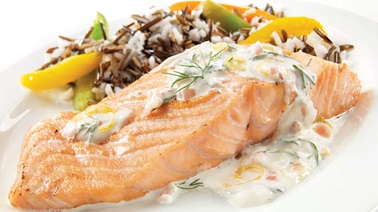 Lemon-dill salmon fillet
