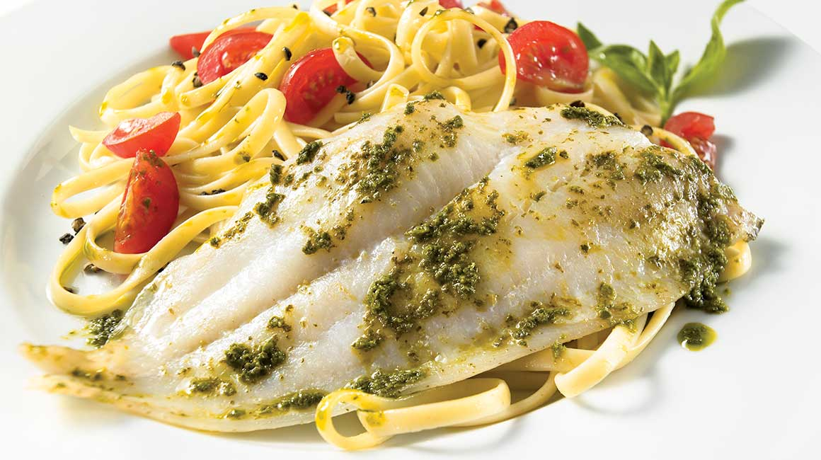 Filet de sole au pesto