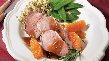 Orange-rosemary milk-fed veal tenderloin