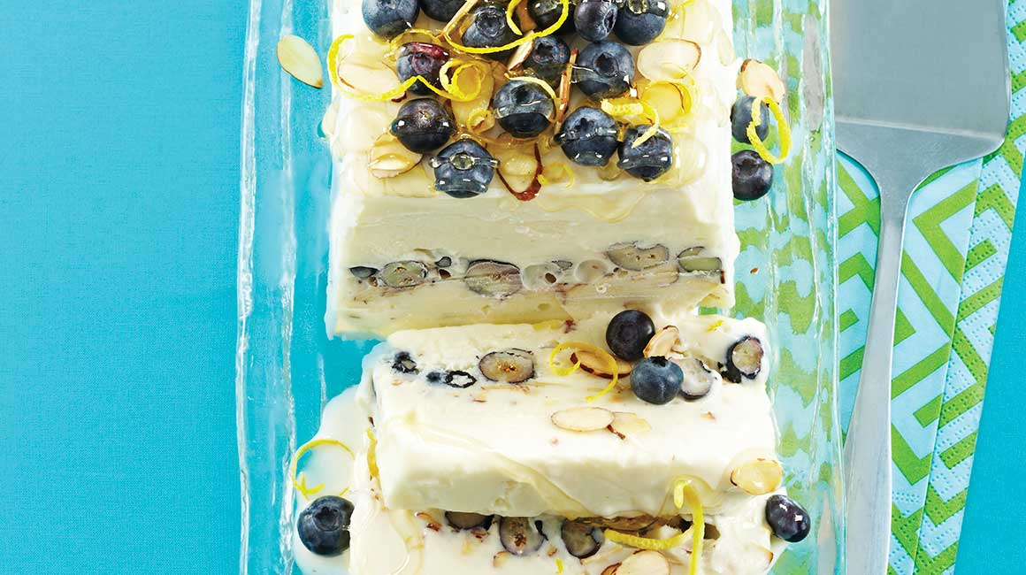 Greek frozen yogurt cake