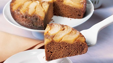 Upside-Down Pear Spice Cake