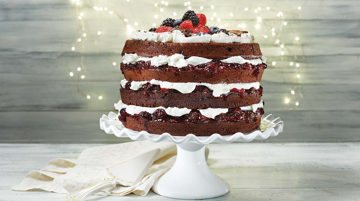 Black Forest Cake With Berries