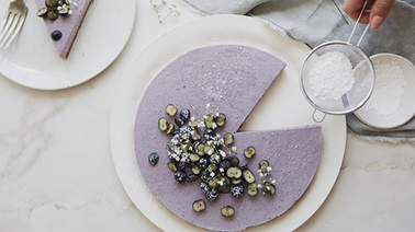 No-bake blueberry cheesecake from Trois fois par jour