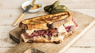 Philly-Style Grilled Cheese with Caramelized Onions & Raclette Cheese