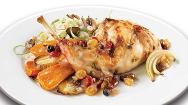 Roast Rabbit in a Dried Fruit Sauce