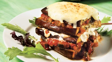 Grilled Eggplant Lasagna Tomato and Ricotta Cheese Sauce