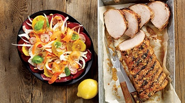 Cuban-style barbecued pork loin from Stefano Faita