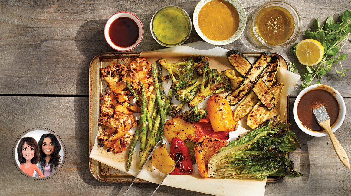 Grilled vegetable marinades