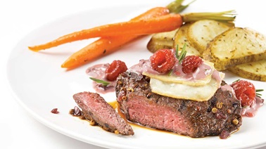 Bison Medallions with Red Wine and Berry Sauce