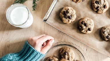 The Best Spiced Chocolate Chip Christmas Cookies