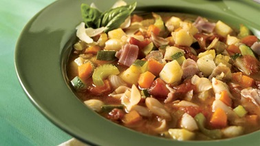 White Kidney Beans and Pancetta Minestrone