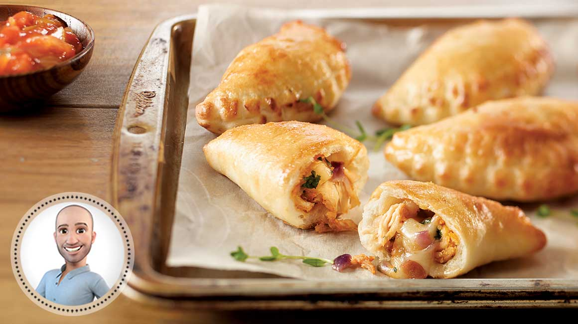 Mini BBQ turkey calzones from Stefano Faita