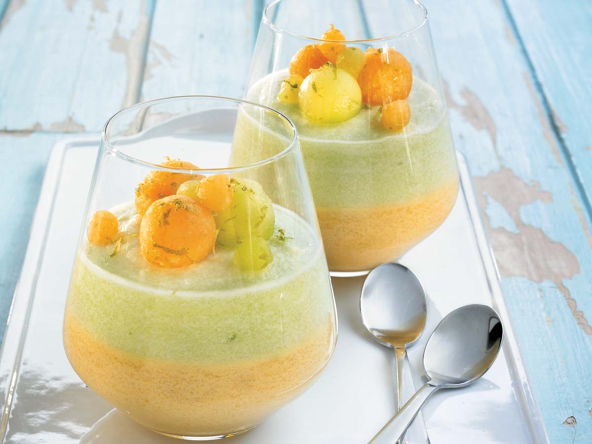 Two-melon mousse