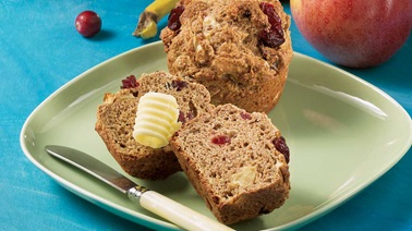 Three-Fruit Muffins
