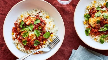 Pan-fried Cod with Mexican Salsa by Geneviève O'Gleman