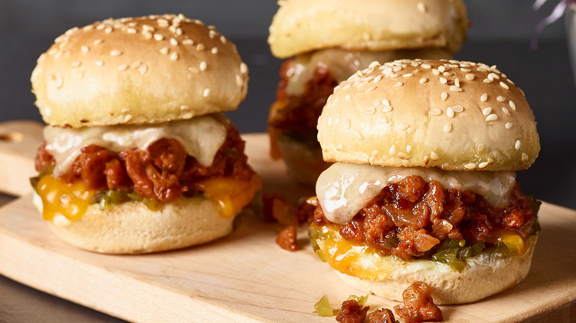 Mini-burgers BEYOND MEAT BBQ