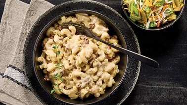 Beef & Cheese Macaroni with Southwest Salad