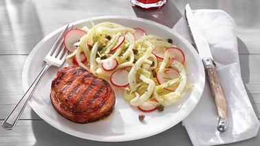 Bacon-Wrapped Medallions & Fennel Salad