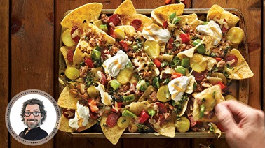 Hearty nachos from Christian Bégin