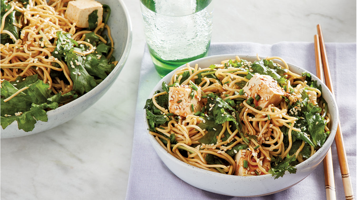 Sesame Noodles with Kale