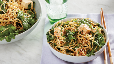 Sesame Noodles with Kale & Tofu