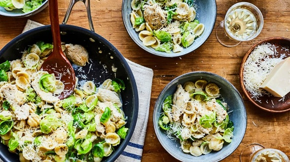 Orecchiette with Chicken & Brussels Sprouts