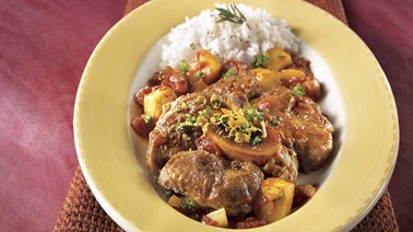 Curry-mango osso buco
