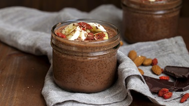 Chocolate protein Chia Pudding
