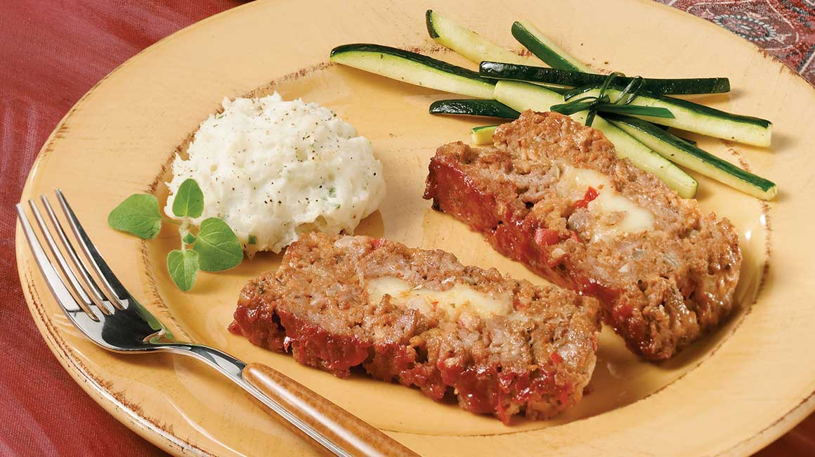 Lamb Meatloaf Stuffed with Cheese