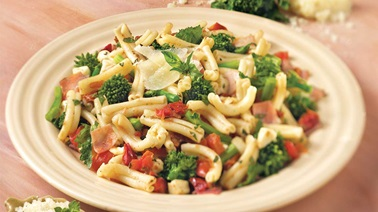 Pasta with capicollo and rapini