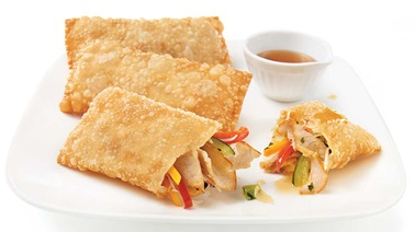 Pork roast egg rolls
