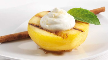 Grilled Peaches and Whipped Labneh