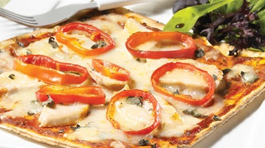 Chicken and sage pizza