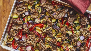 Grilled Balsamic Beef & Vegetables by Geneviève O'Gleman