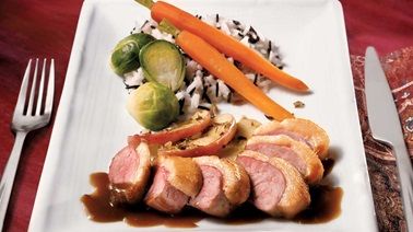 Duck Breasts, Demi-Glace Sauce and Apples